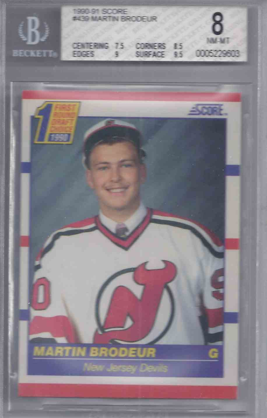 1990 91 Upper Deck Martin Brodeur 439 On Kronozio
