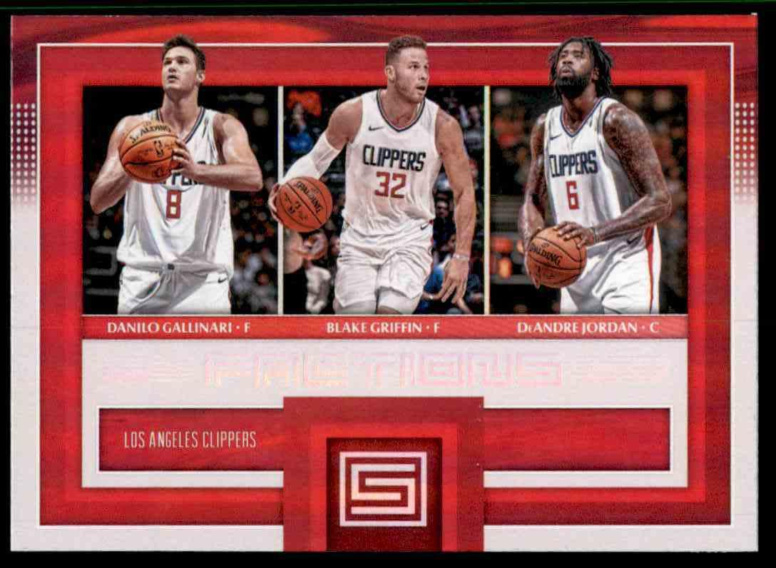 2017-18 Panini Status Factions Blake Griffin/Danilo Gallinari/DeAndre Jordan #2 card front image