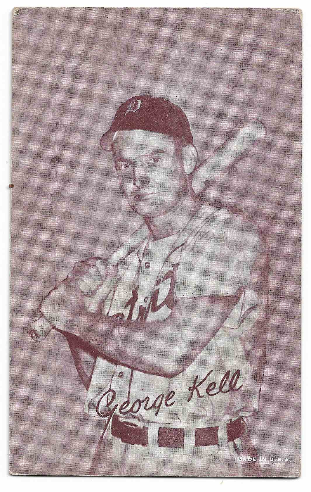 1947 Exhibits George Kell card front image