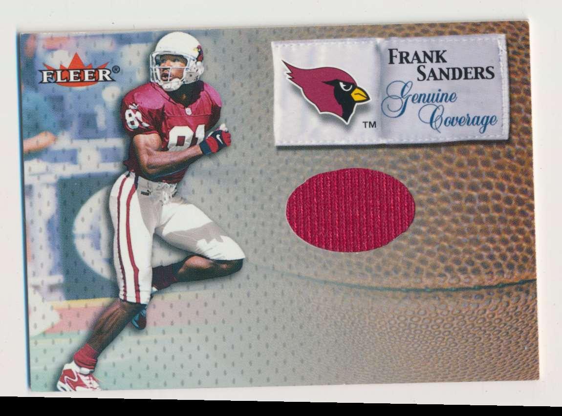 2000 Fleer Genuine Coverage Frank Sanders B card front image