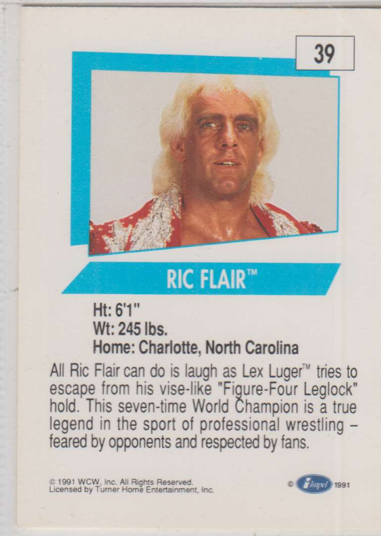 1991 Impel Wcw Ric Flair #39 card back image
