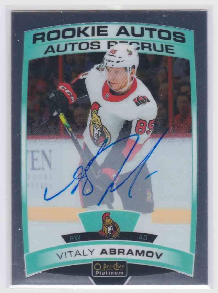2019-20 Upper Deck Hockey O-Pee-Chee Platinum Vitaly Abramov #R-VA card front image
