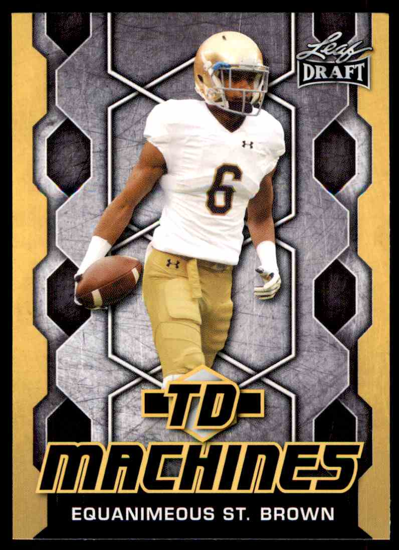 2018 Leaf Draft Equanimeous St. Brown #TD-07 card front image