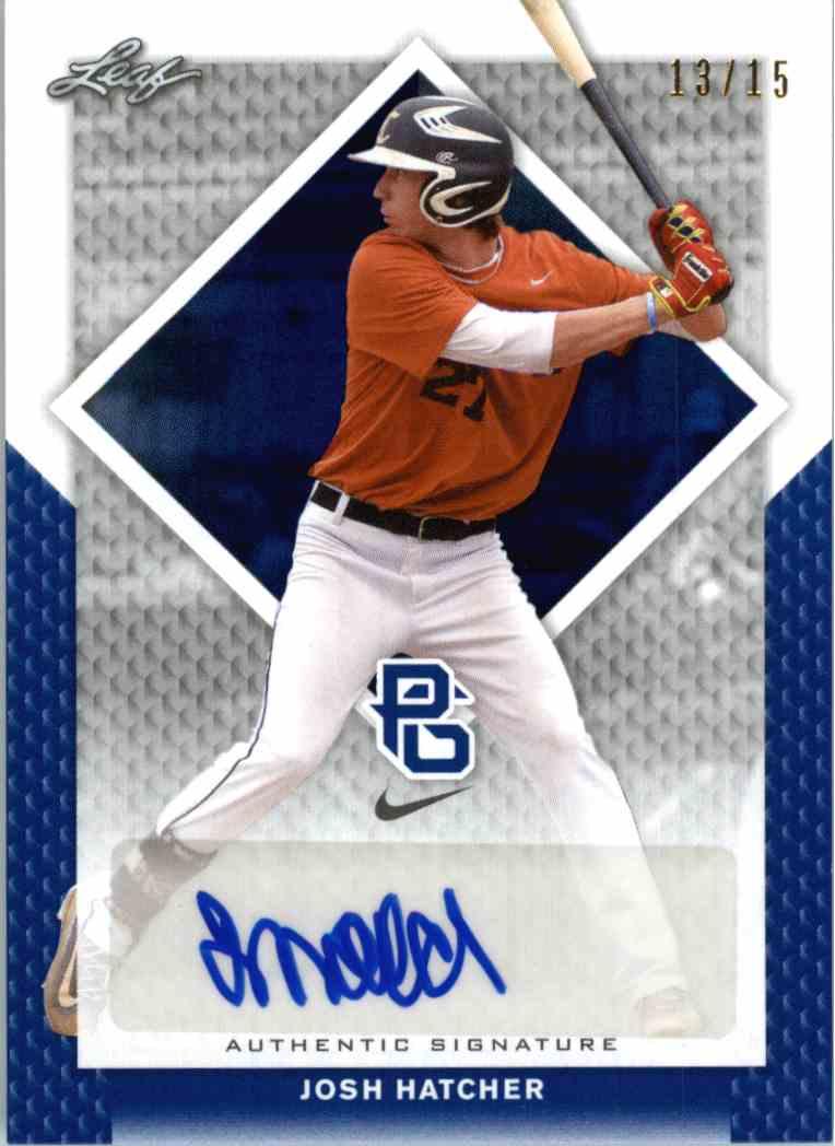 2016 Leaf Perfect Game Blue Josh Hatcher #BA-165 card front image