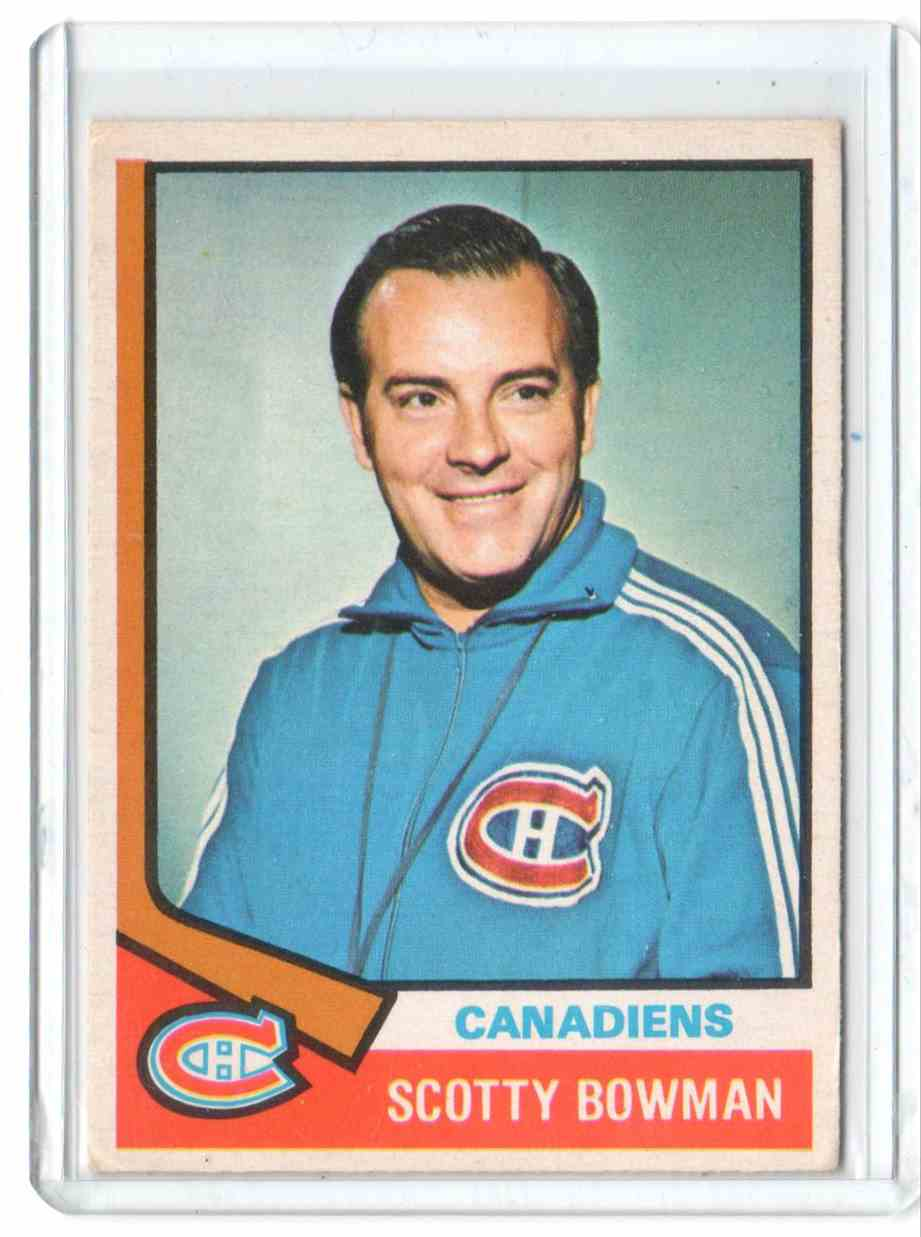 1974-75 O-Pee-Chee Scotty Bowman #261 card front image