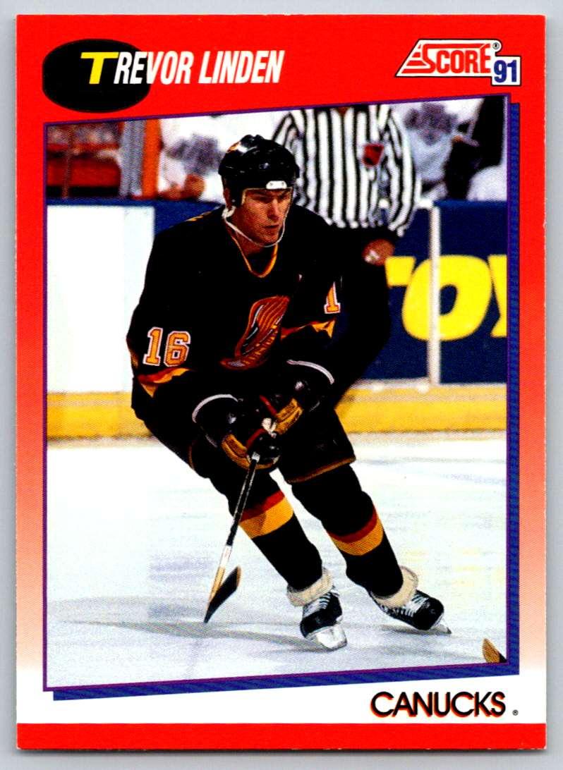 1991-92 Score Canadian Bilingual Trevor Linden #8 card front image