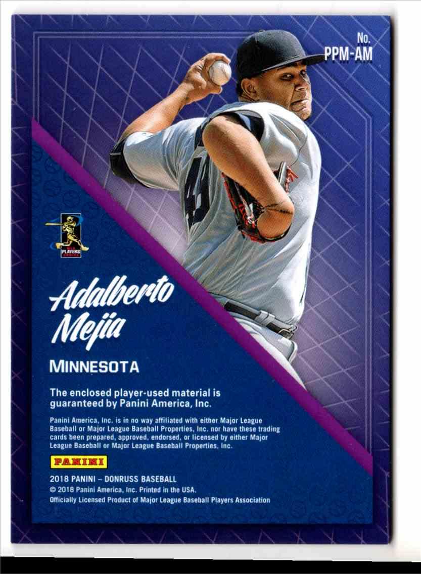 2018 Donruss Promising Pros Materials Adalberto Majia #PPMAM card back image