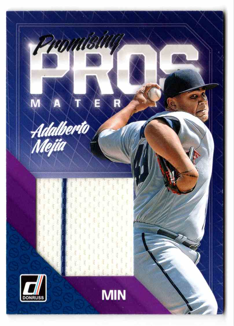 2018 Donruss Promising Pros Materials Adalberto Majia #PPMAM card front image