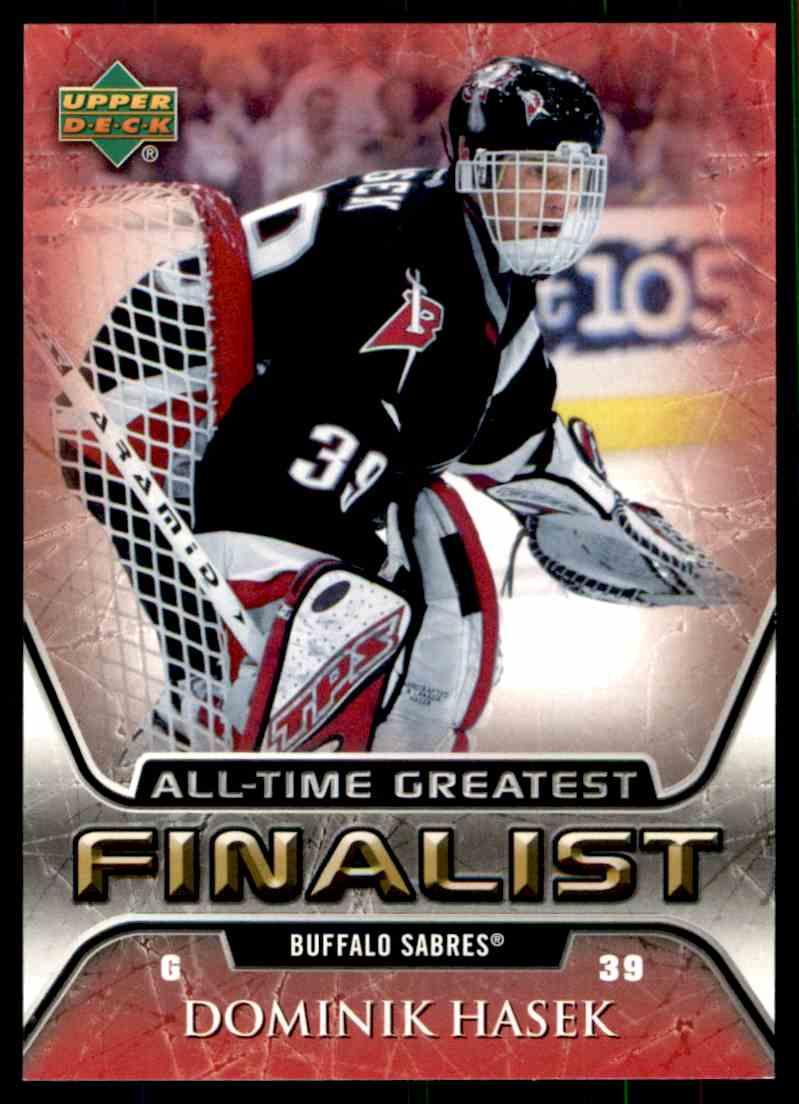 2005-06 Upper Deck All-Time Greatest Dominik Hasek #7 card front image