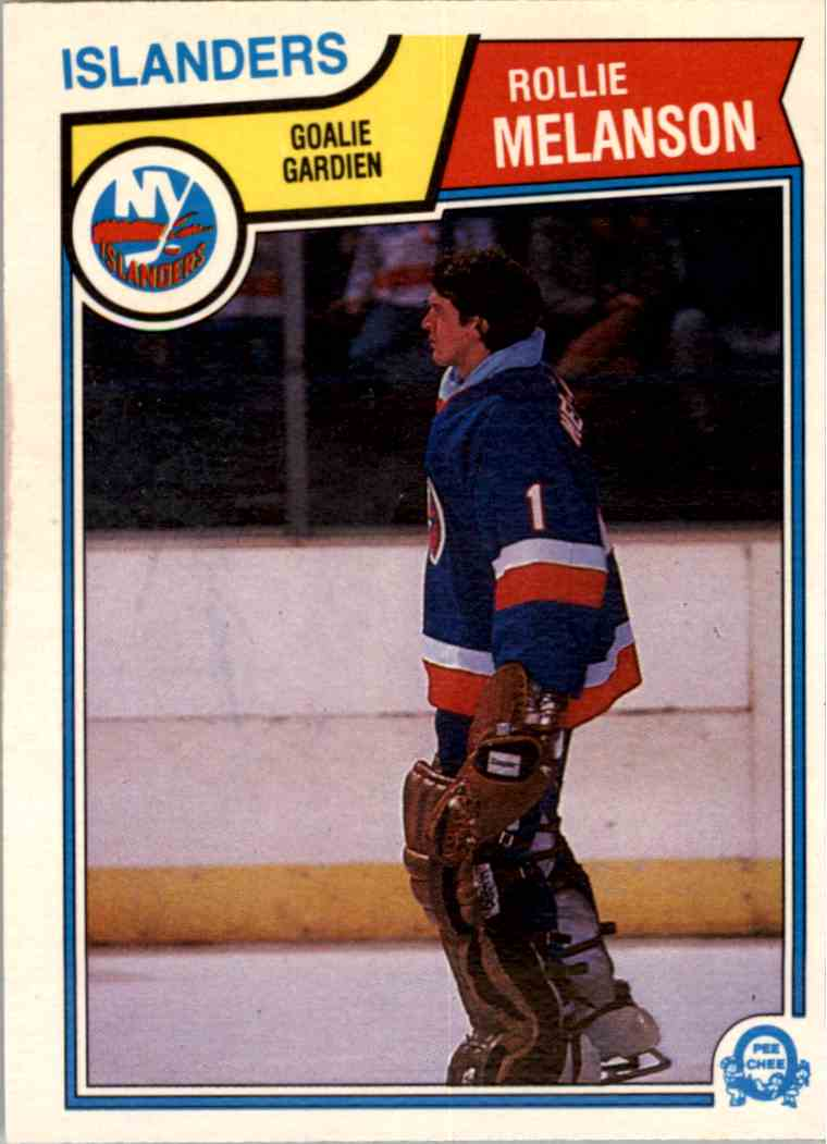 1983-84 O-Pee-Chee Rollie Melanson #12 card front image