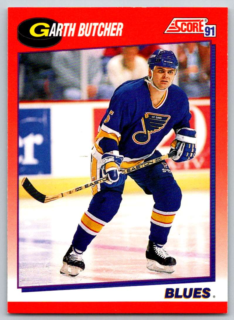 1991-92 Score Canadian Bilingual Garth Butcher #24 card front image