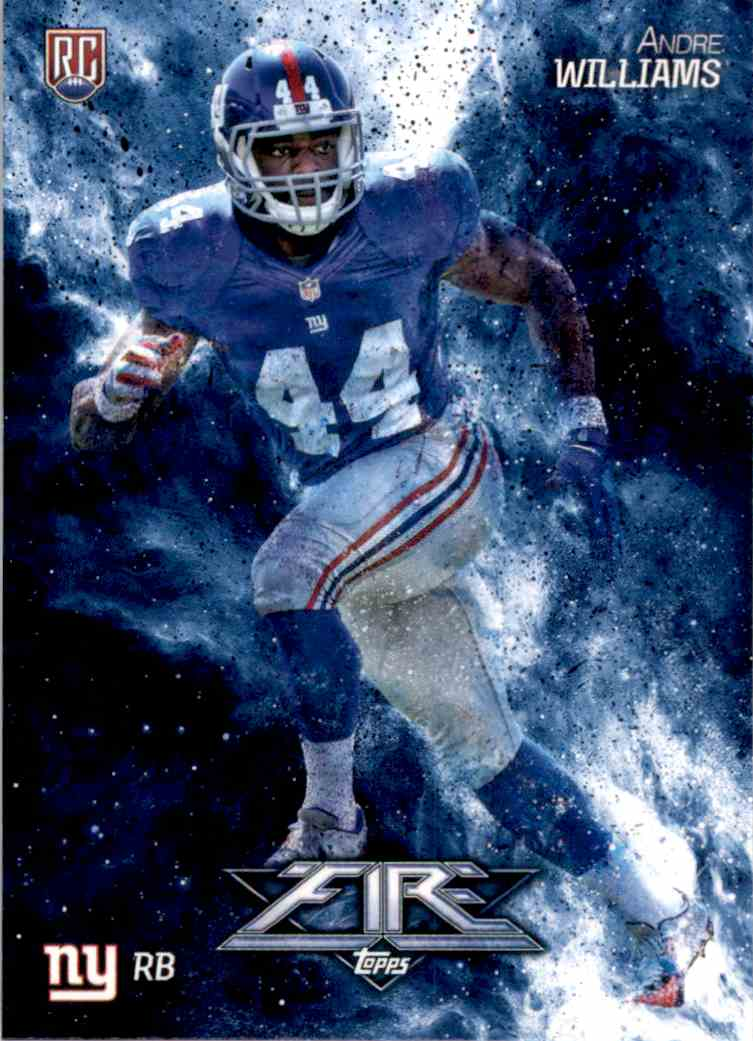 2014 Topps Fire Andre Williams RC #107 card front image