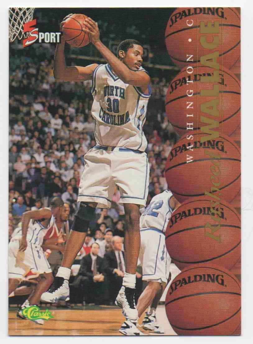 1995-96 Classic 5 Sport Rasheed Wallace #4 card front image