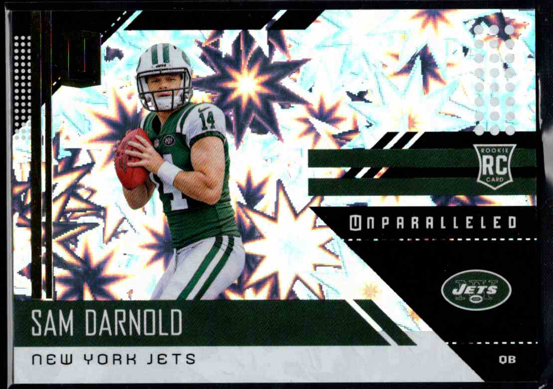 2018 Panini Unparalleled Sam Darnold #206 card front image