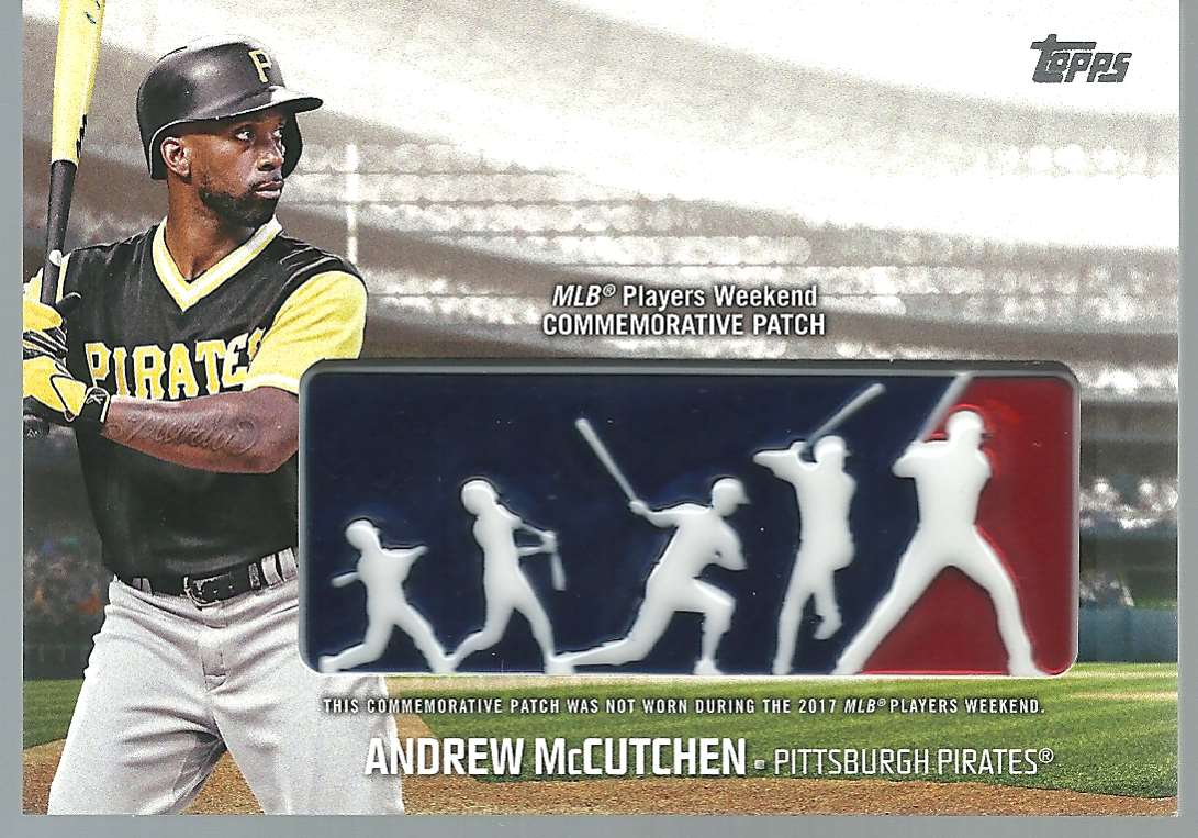 2018 Topps Players Weekend Patches Andrew McCutchen #PWP-AM card front image