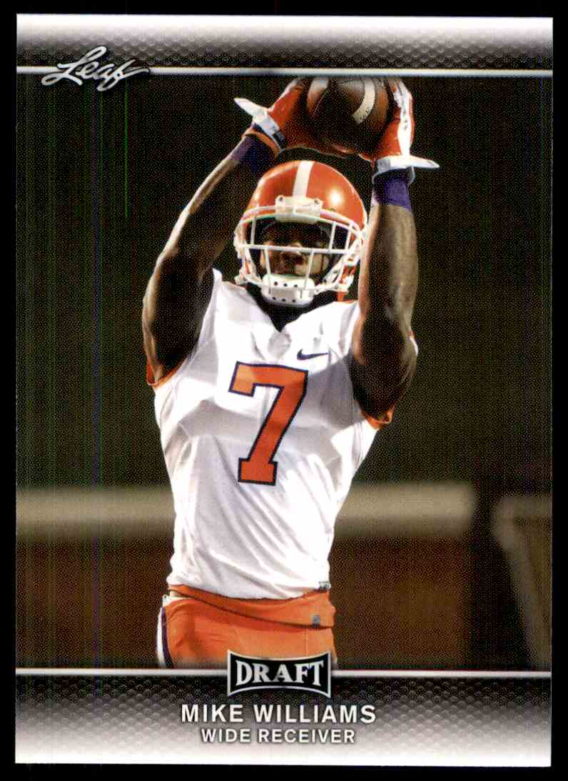 2017 Leaf Draft Mike Williams #51 card front image