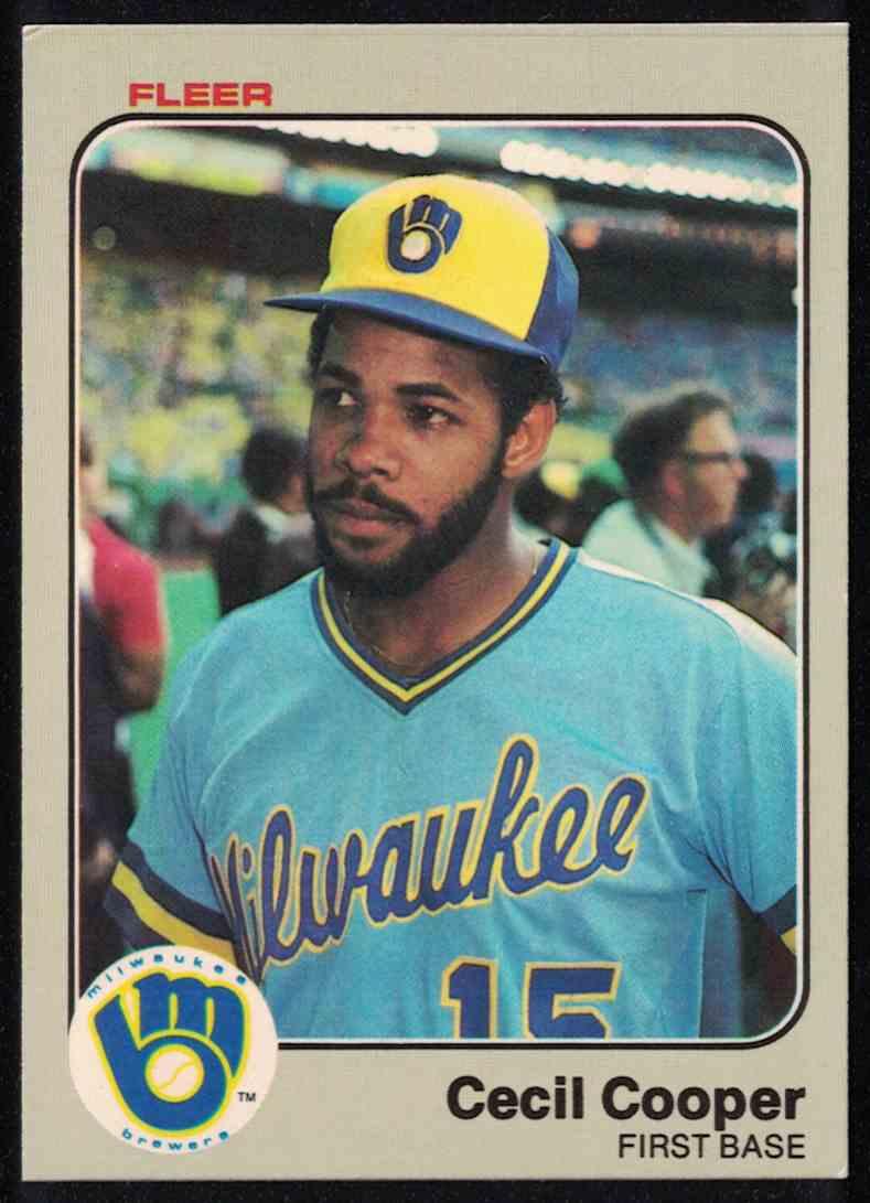 1983 Fleer Cecil Cooper EX-MT #30 card front image