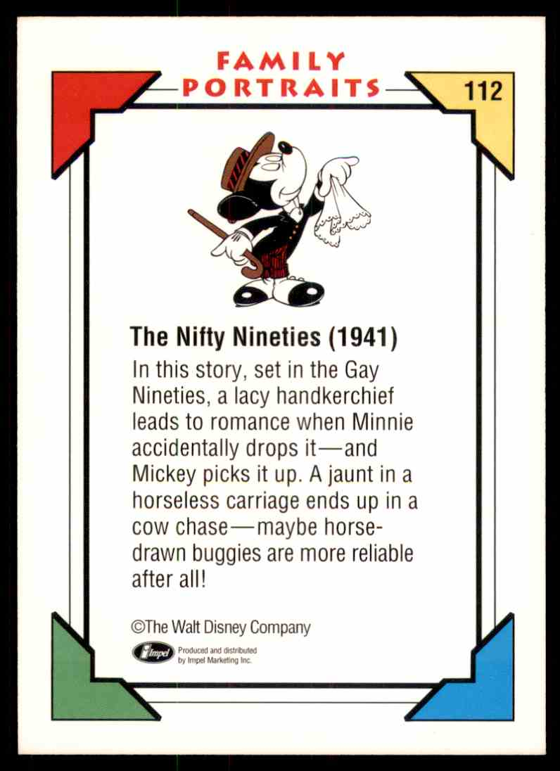 1991 Disney Series One The Nifty Nineties 1941 #112 card back image