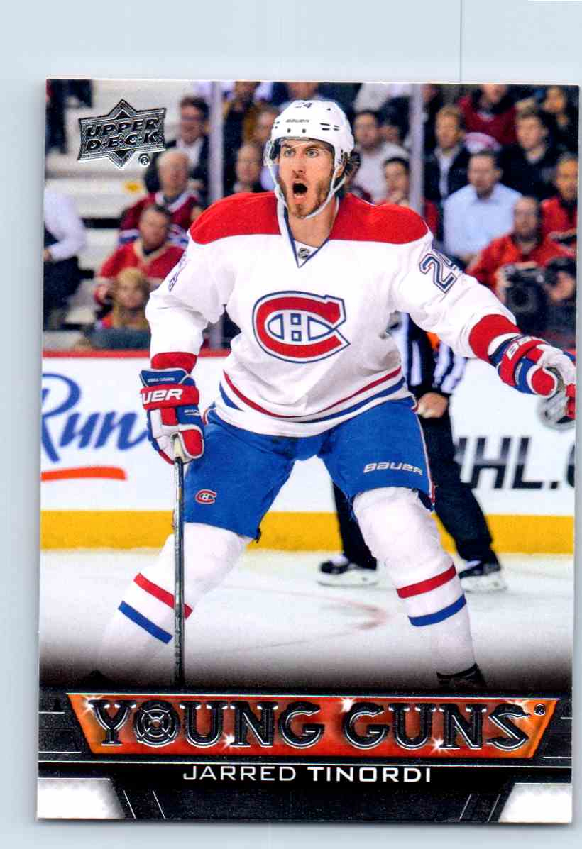 2013-14 Upper Deck Young Guns Jarred Tinordi #478 card front image