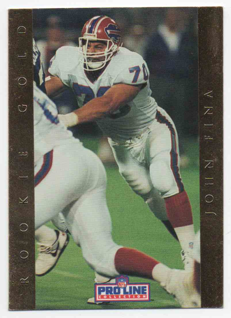 1992 Pro Line Rookie Gold John Fina #2 card front image