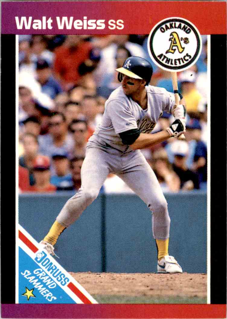 1989 Donruss Grand Slammerrs Walt Weiss 3 On Kronozio
