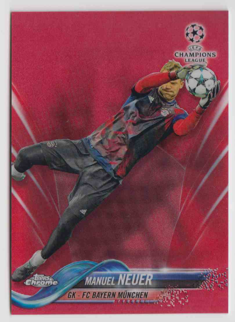 2017 Topps Chrome Champions League Red Refractor Manuel Neuer #46 card front image
