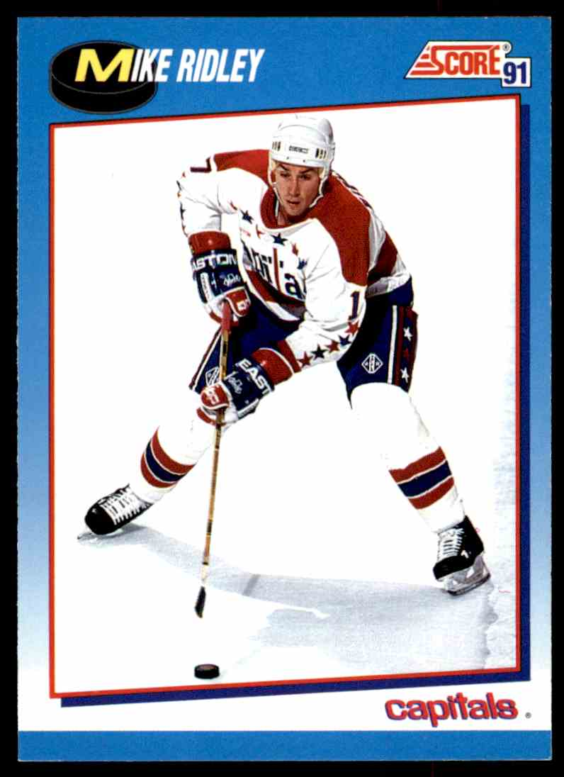 1991-92 Score Canadian Bilingual Mike Ridley #503 card front image