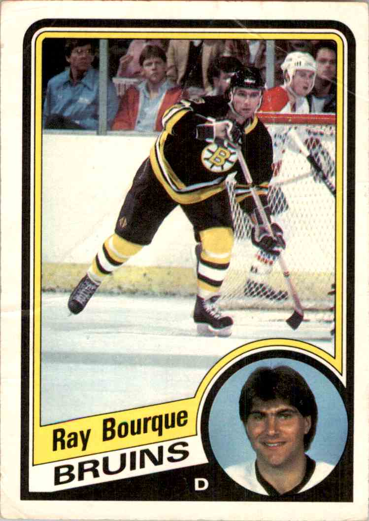 1984-85 O-Pee-Chee Ray Bourque #1 card front image