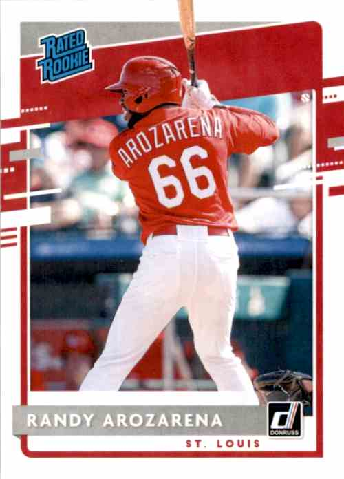 2020 Donruss Randy Arozarena Rr RC #51 card front image