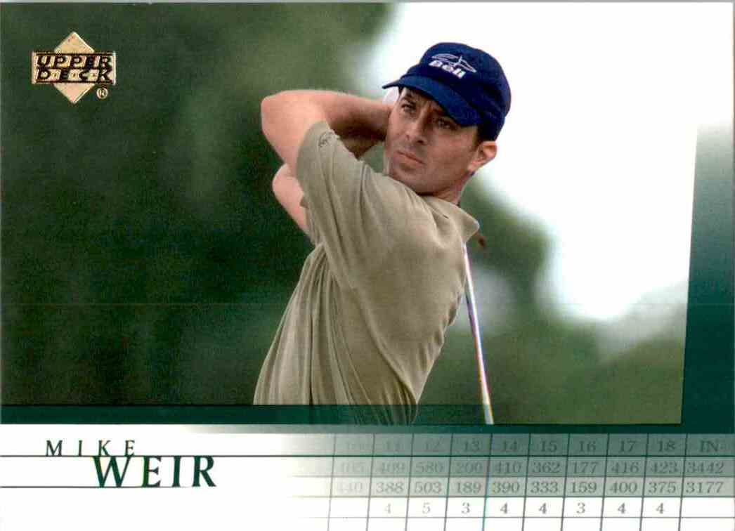 2001 Upper Deck Mike Weir RC #20 card front image