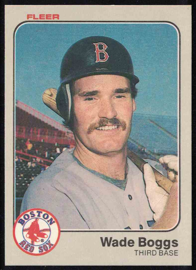 1983 Fleer Wade Boggs NM-MT #179 card front image