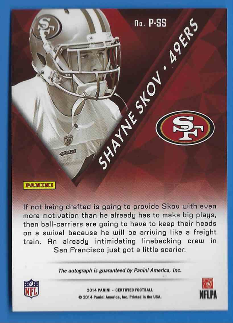 2014 Certified Potential Autographs Mirror Red Shayne Skov #PSS card back image