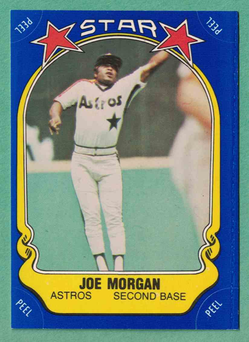 1981 Fleer Star Sticker Joe Morgan EX+ #109 card front image