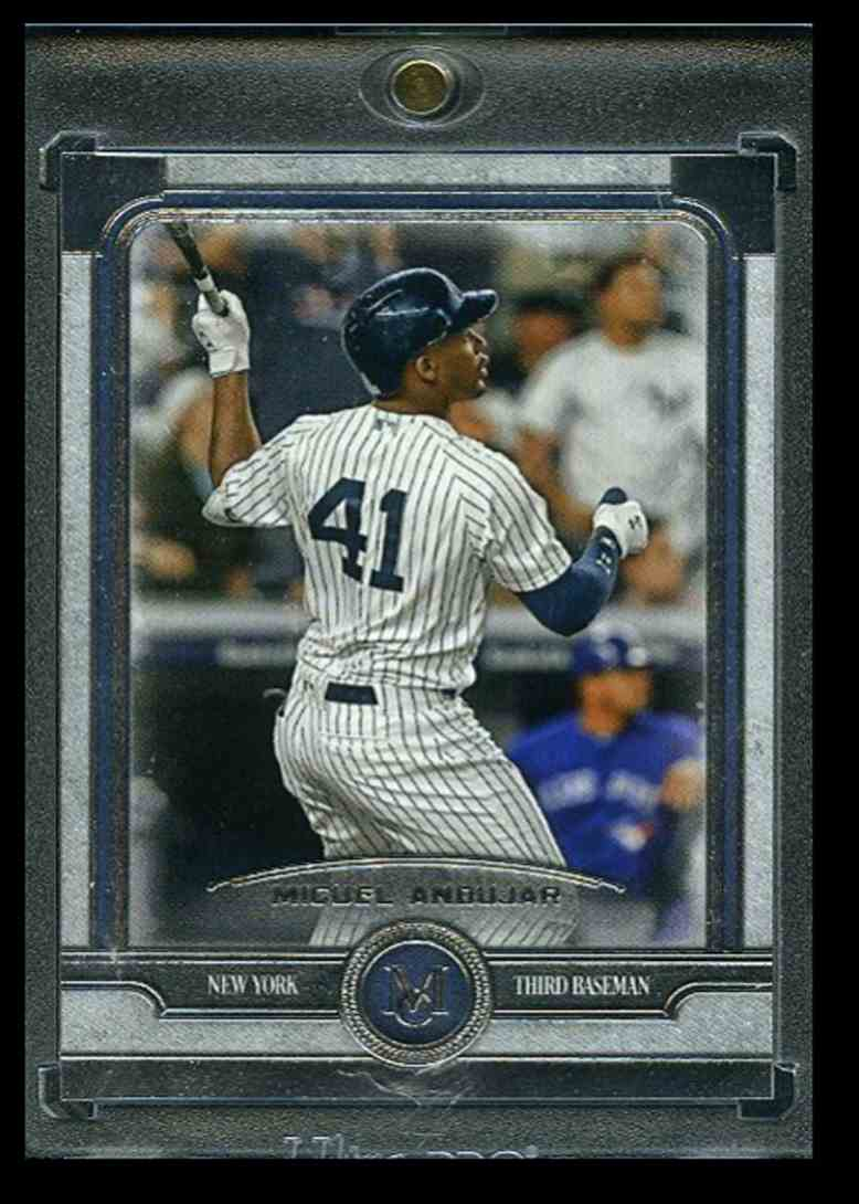 2019 Topps Museum Collection Blank Back Miguel Andujar card front image