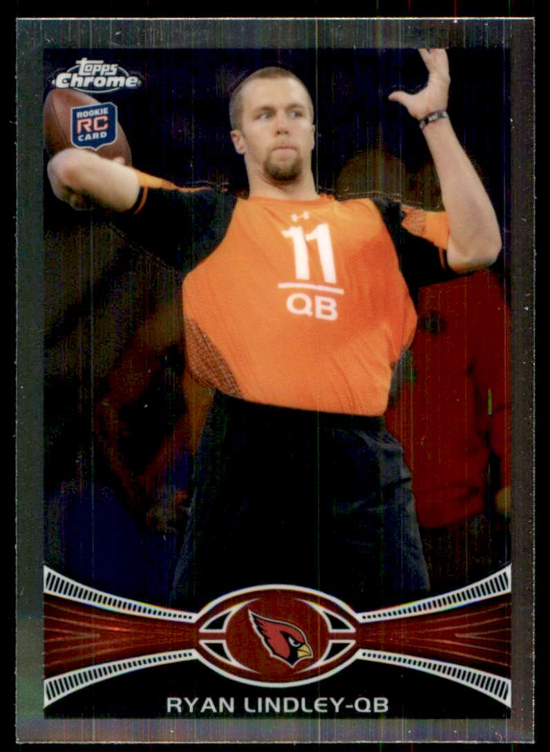 2012 Topps Chrome Ryan Lindley RC #105 card front image