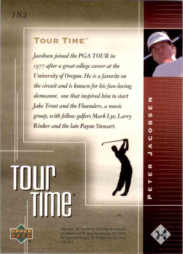 2001 Upper Deck Peter Jacobsen Tt #182 card back image