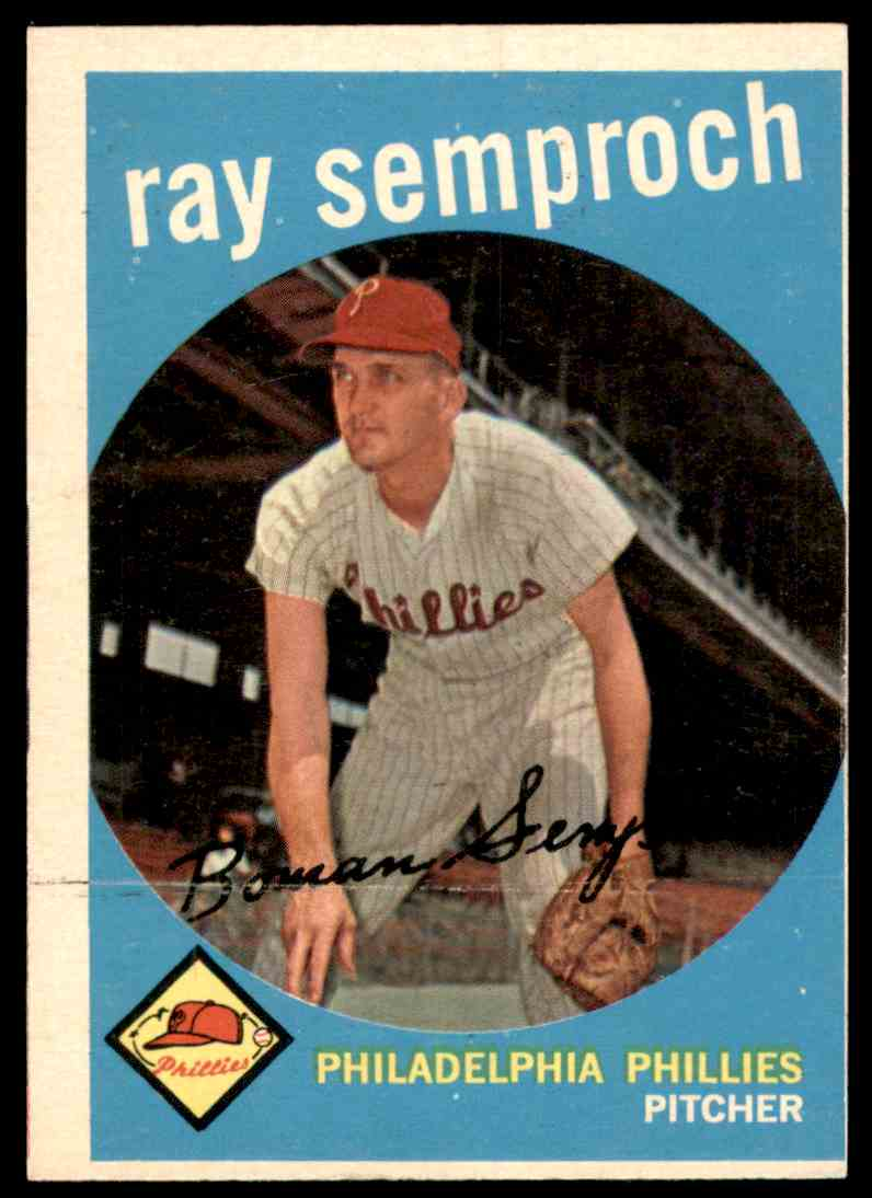 1959 Topps Ray Semproch #197 card front image
