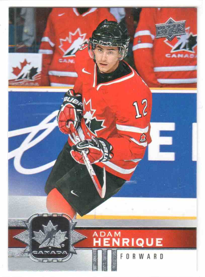 2017-18 Upper Deck Team Canada Canadian Tire Adam Henrique #60 card front image