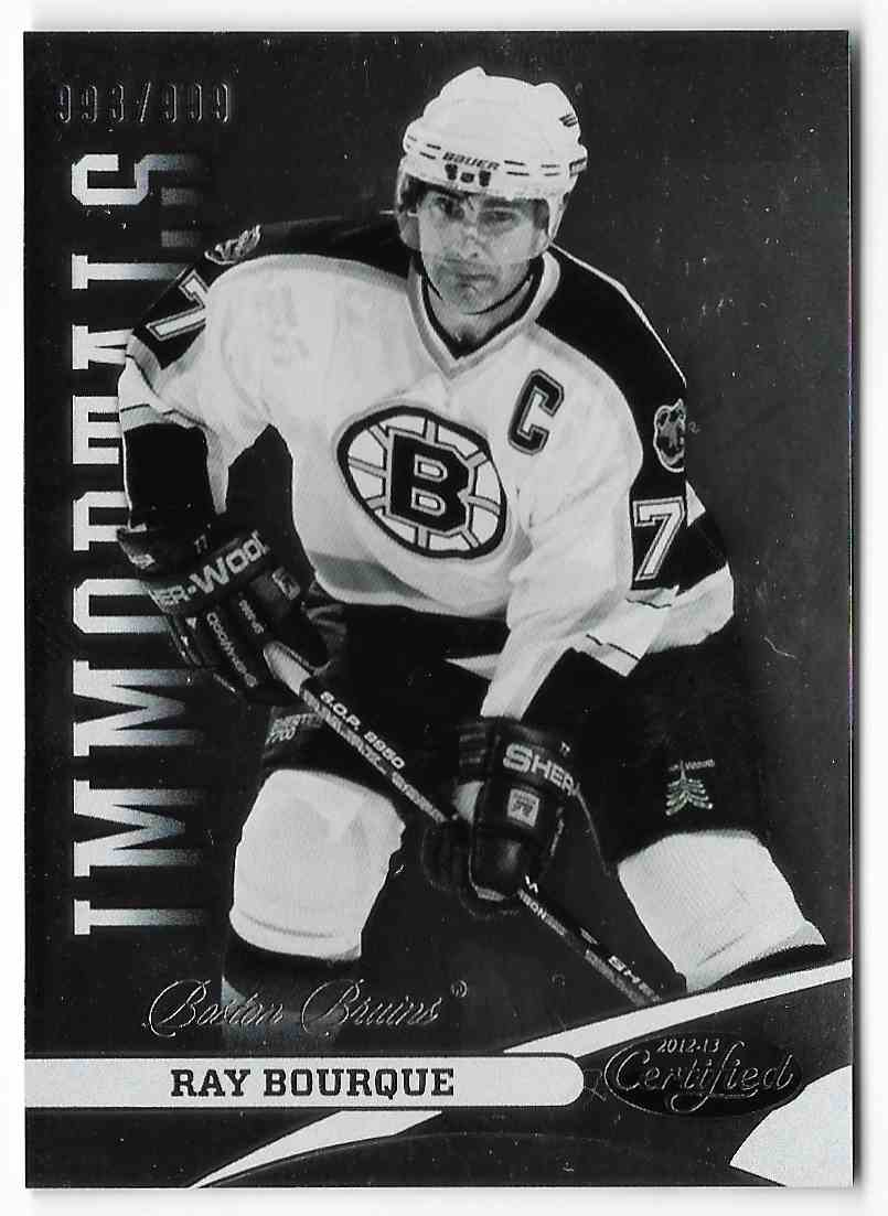 2012-13 Panini Certified Ray Bourque #124 card front image
