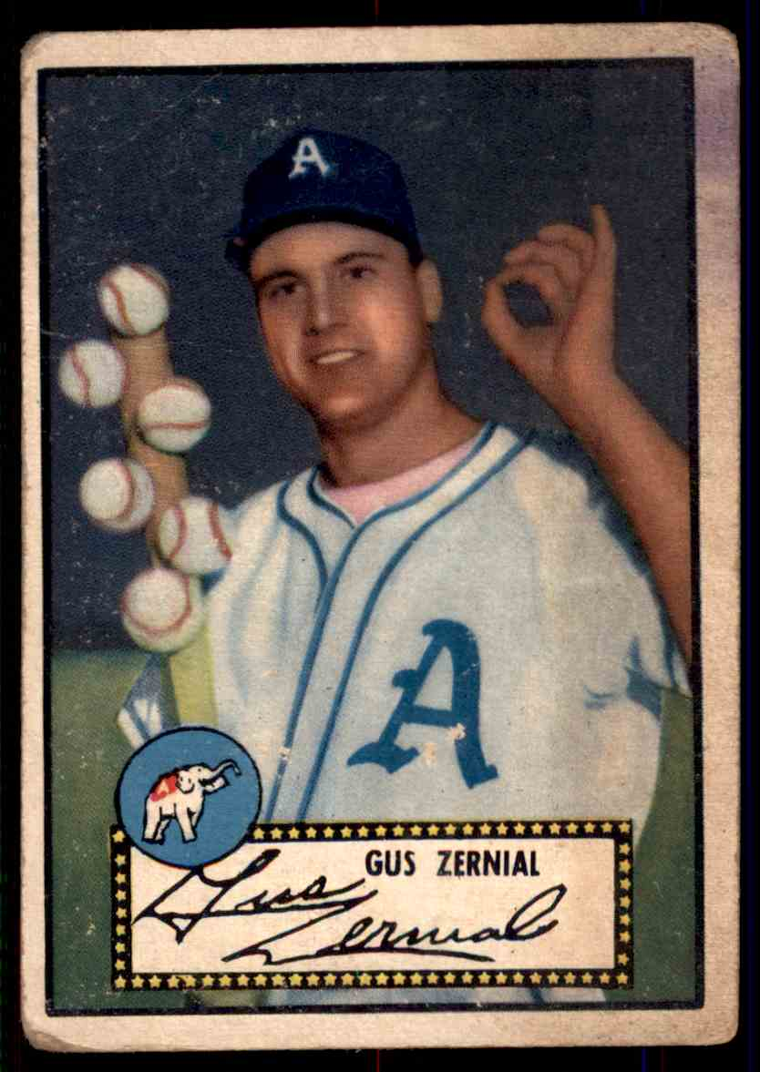 1952 Topps Gus Zernial #31 card front image