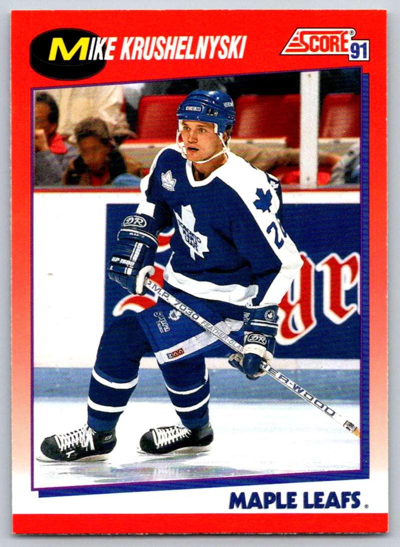 1991-92 Score Canadian Bilingual Mike Krushelnyski #33 card front image