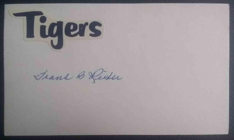 1934 3X5 Frank Reiber card front image