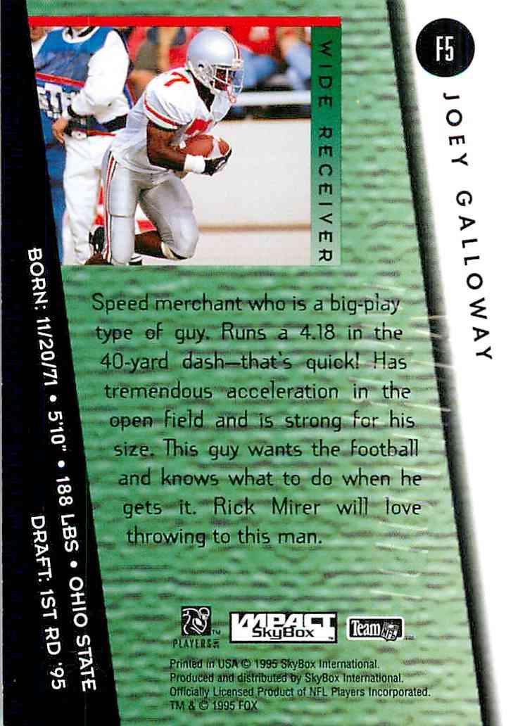 1995 Skybox Impact Joey Galloway #F5 on Kronozio