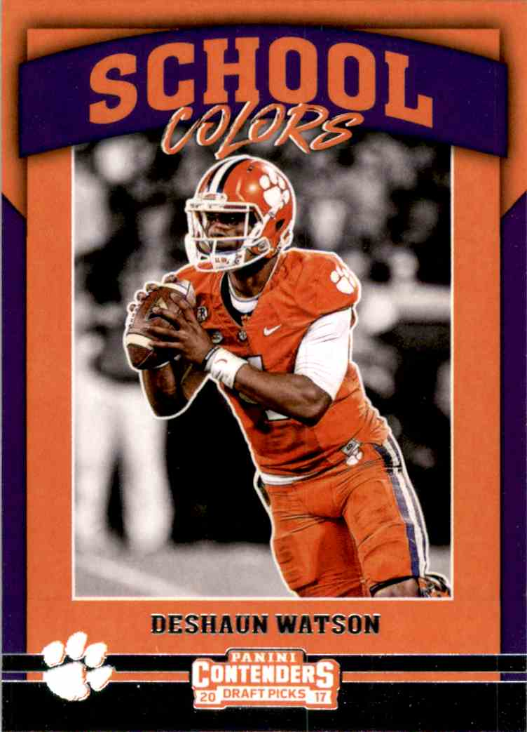 2017 Panini Contenders Draft Picks School Colors Deshaun Watson #1 card front image