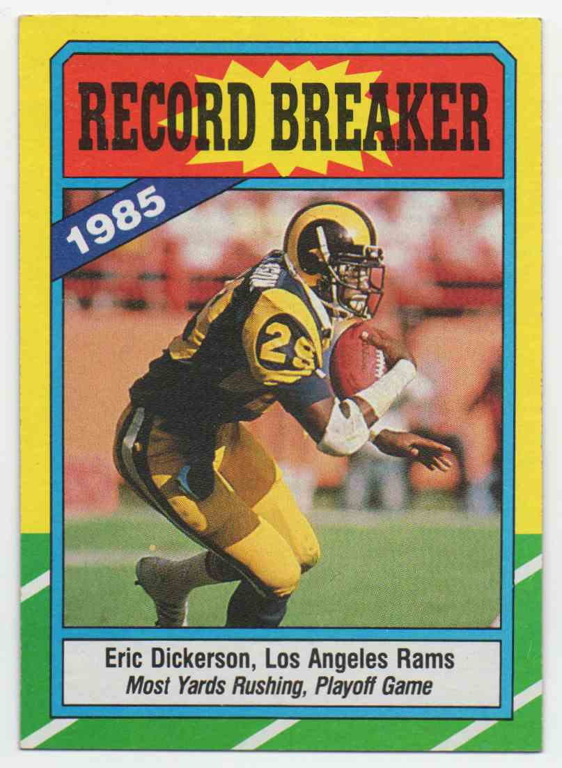 1986 Topps Eric Dickerson #2 card front image