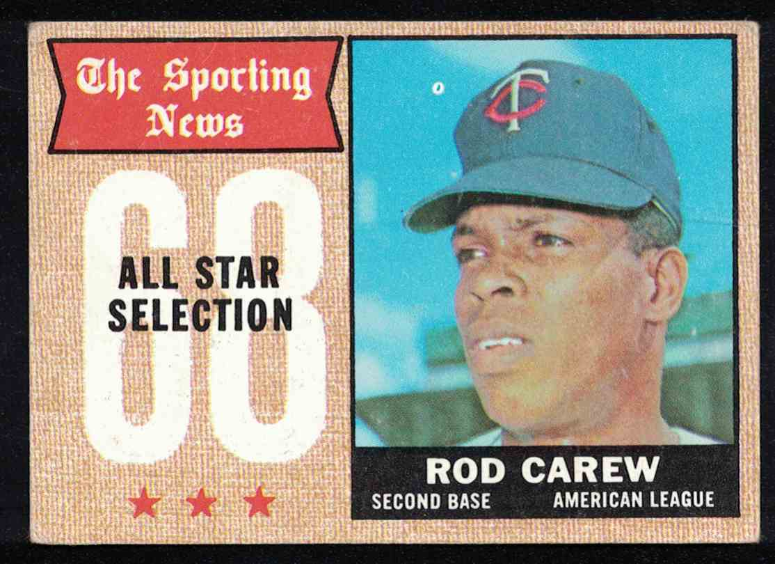 1968 Topps Rod Carew All-Star VG-EX Wrinkle #363 card front image