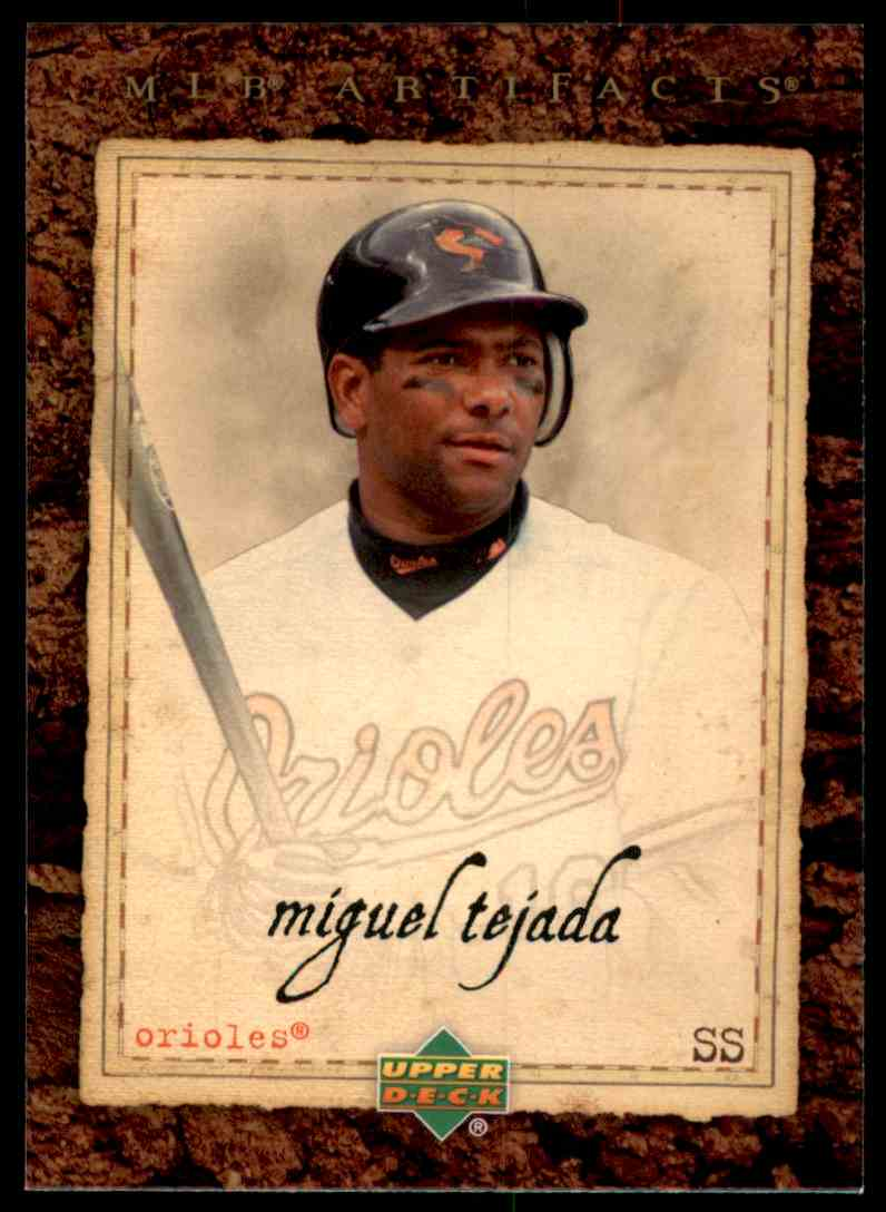 2007 Artifacts Miguel Tejada #1 card front image