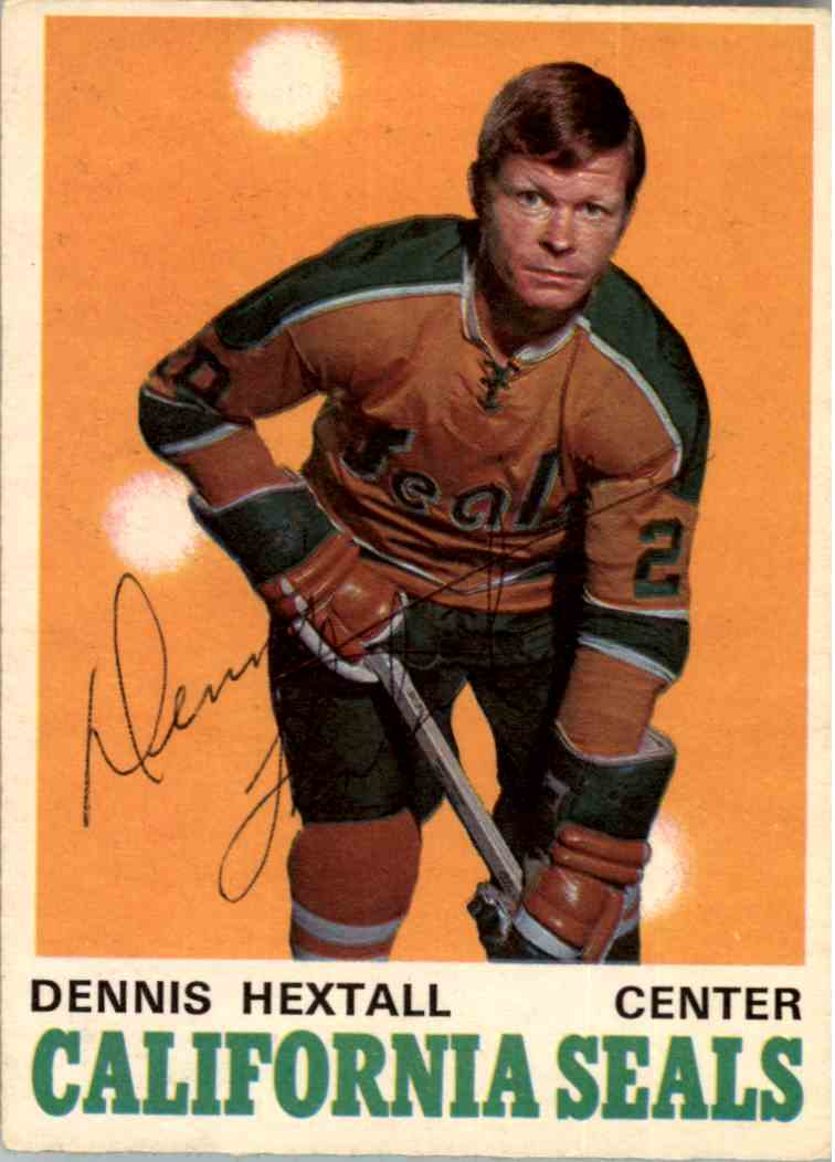 1970-71 O-Pee-Chee Dennis Hextall - NrMint #186 card front image