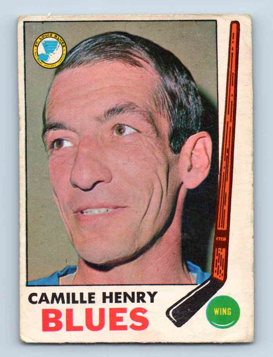 1969-70 Topps ! Camille Henry #17 card front image