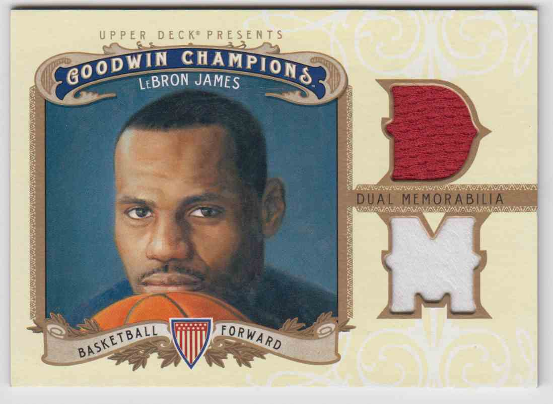 2012-13 Goodwin Champions LeBron James #M2-LJ card front image